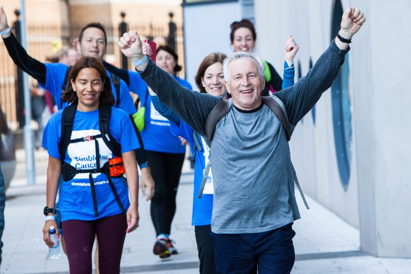 Jonathan Dimbleby leads 50 km walk from St Thomas' to Guy's