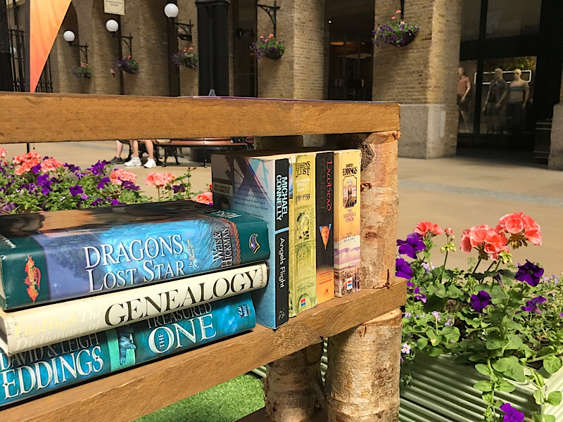 Book swapping shelves installed at Hay's Galleria