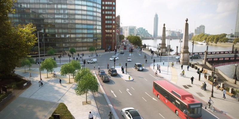 London To Brighton Cycle 2017 >> Lambeth Bridge: TfL plans to abolish roundabouts [26 June 2017]