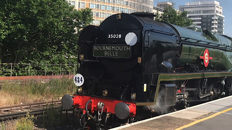 50 years on, steam-hauled Bournemouth Belle back at Waterloo
