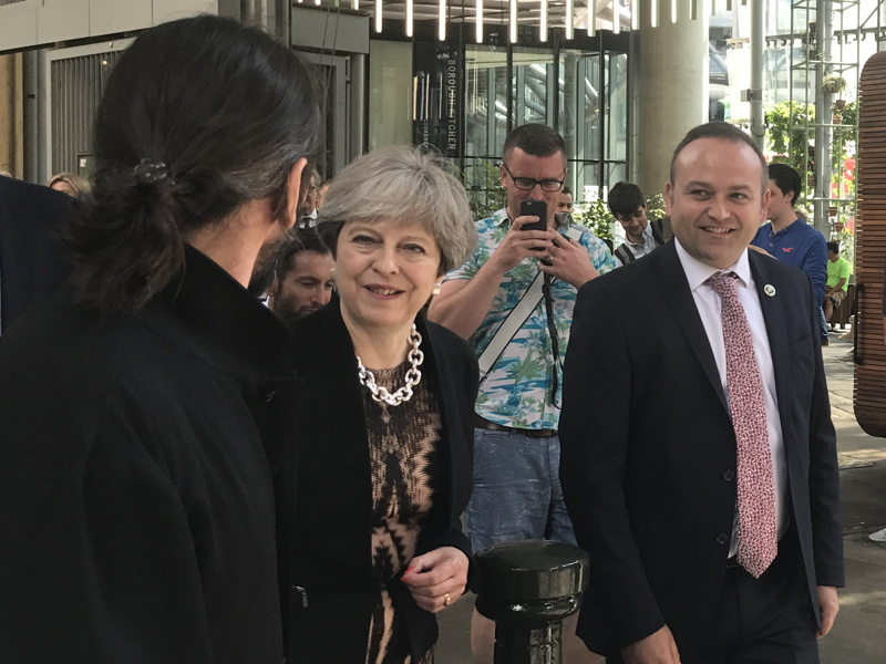 Theresa May joins Australian PM for Borough Market visit