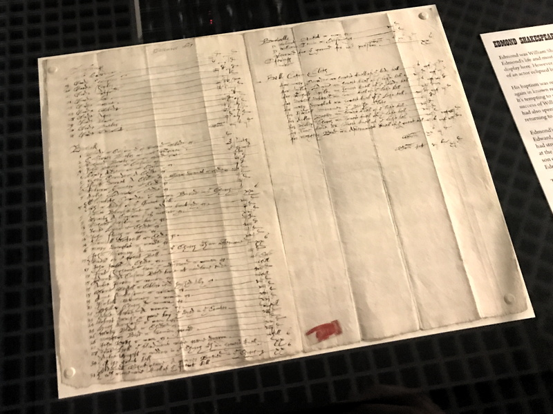 Shakespeare's brother's Southwark burial record goes on show
