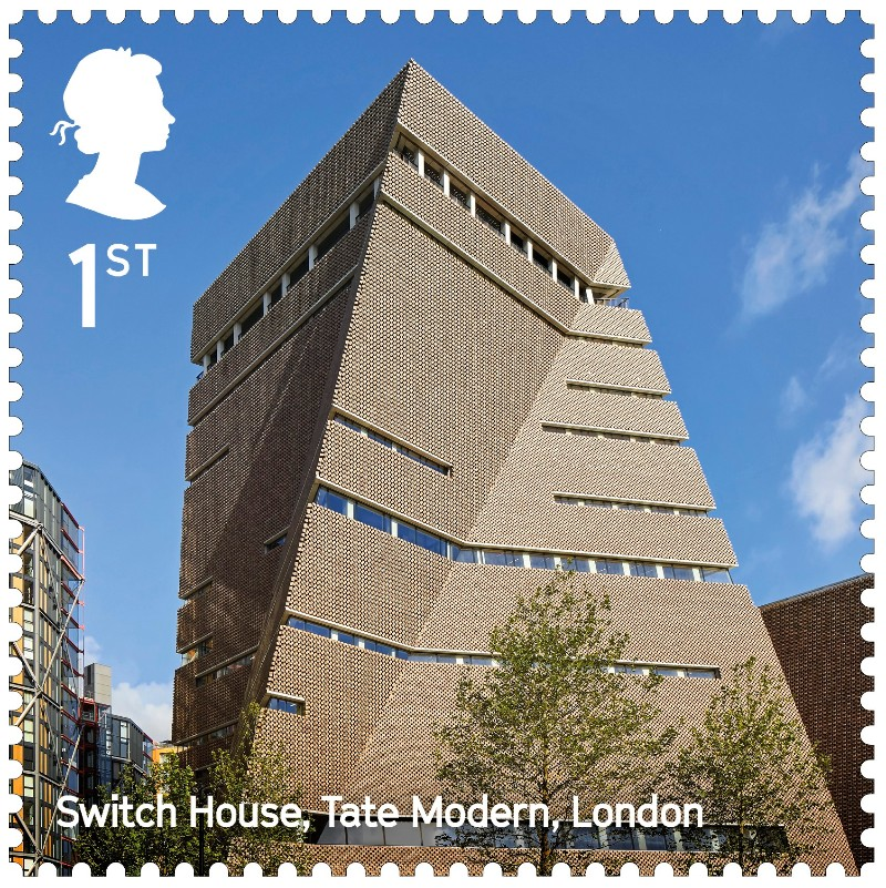 Tate Modern's Blavatnik Building features on new Royal Mail stamp