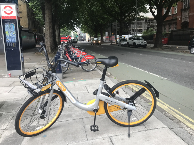 oBike: dockless cycle hire comes to SE1