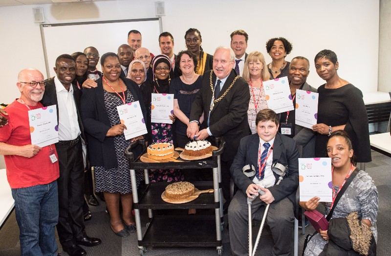 Housing Heroes winners with the Mayor and council