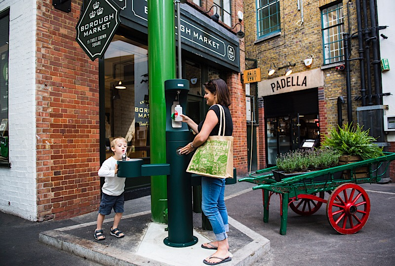 Drinking water fountains introduced at Borough Market