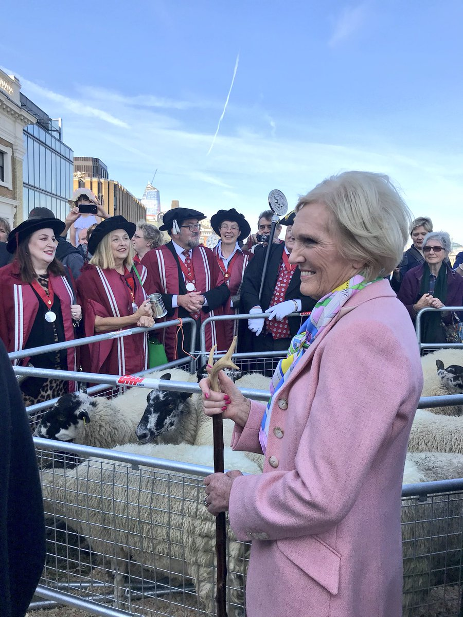 Mary Berry joins annual London Bridge sheep drive