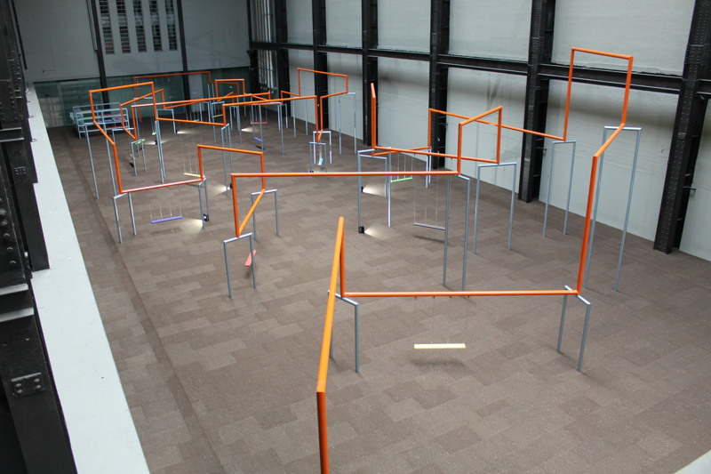 Turbine Hall filled with swings; art to spill out into Bankside