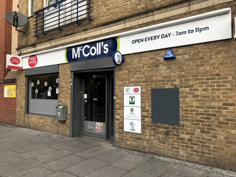 Great Dover Street Post Office closed as McColl's shuts down
