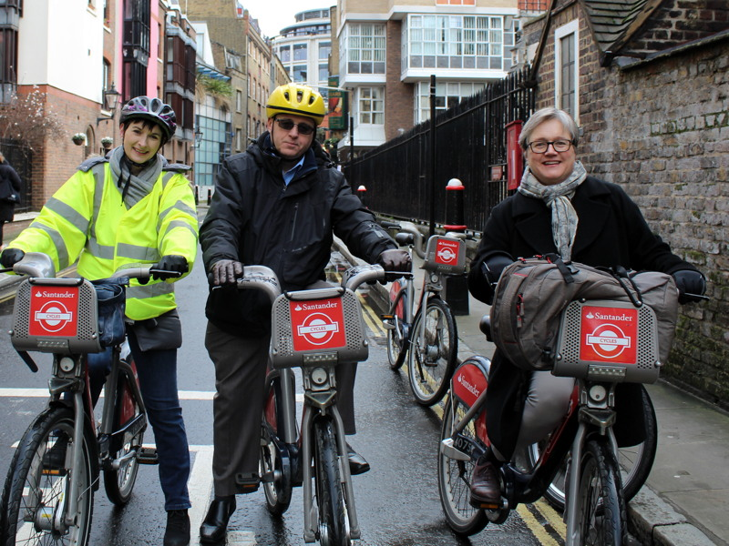 Assembly members tour SE1 and Square Mile cycle routes