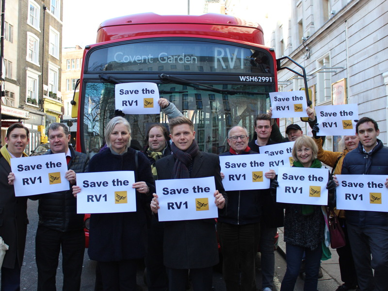 RV1: clamour grows for TfL to reconsider cuts to bus route
