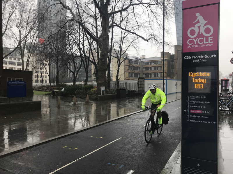 Blackfriars Road bike counter records 80,000 journeys in a month