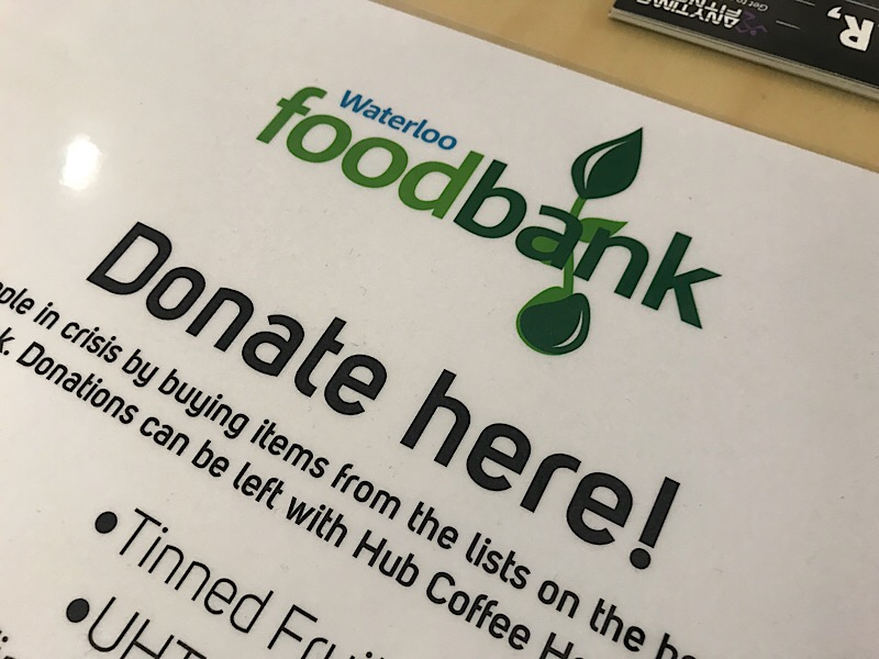 Waterloo Foodbank has provided 10,000 food parcels since 2012