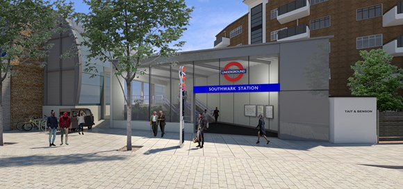 Southwark Tube / Waterloo East Greet Street entrance plan revived