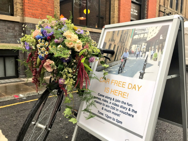 Car Free Day event held in Bermondsey Street