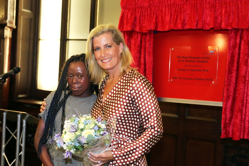 Countess of Wessex opens Rare Diseases Centre at St Thomas'
