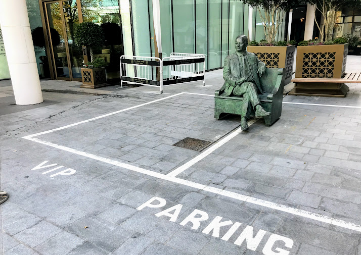 Statue of Boris aide Sir Simon Milton consigned to parking bay
