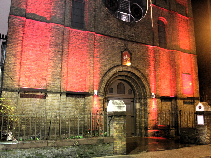 'Red Wednesday' marked at three SE1 churches and a palace