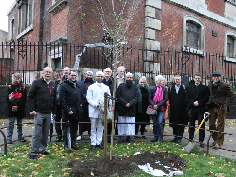 Tree planted in The Borough as symbol of interfaith understanding