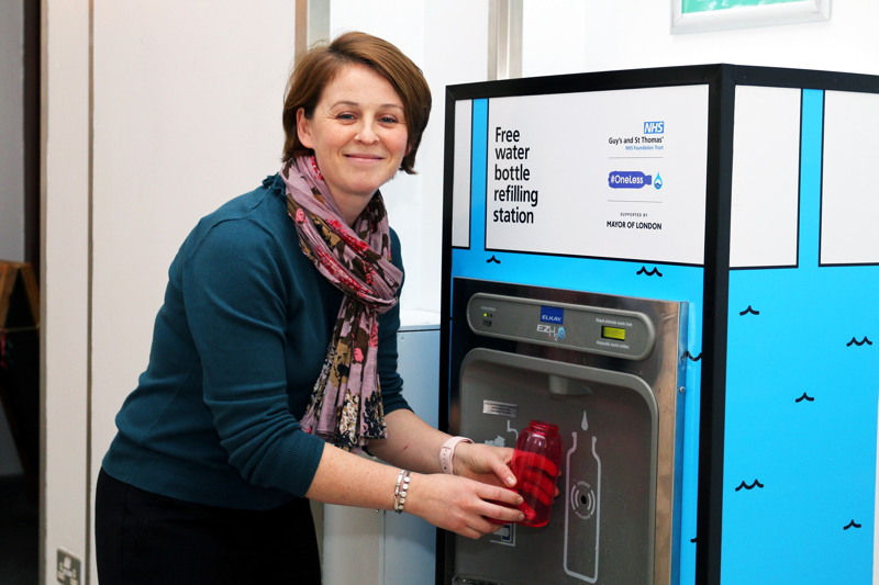 Water bottle refill stations now available at Guy's & St Thomas'