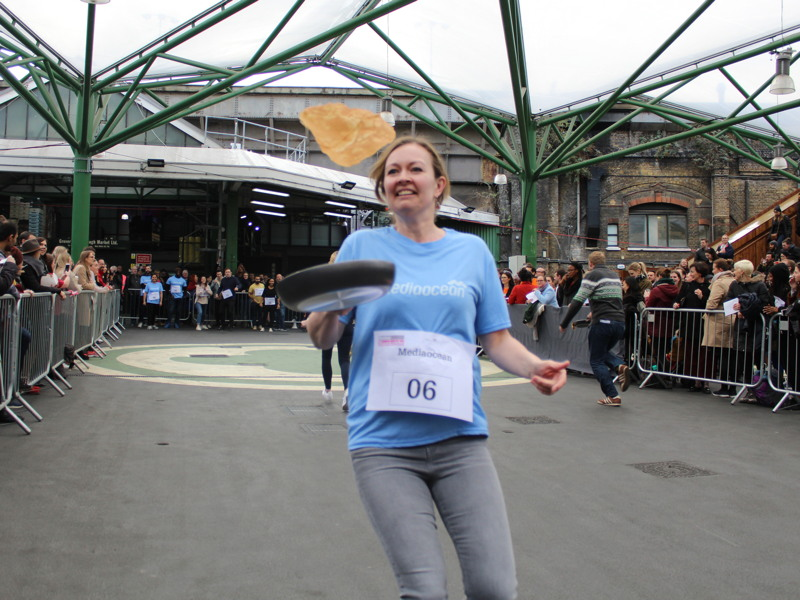 Team from Fitting Rooms gym wins Better Bankside pancake race