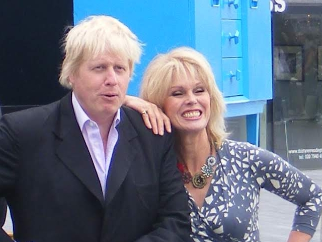 Boris Johnson pictured in 2010 with Joanna Lumley