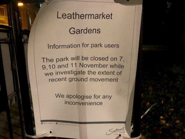 Leathermarket Gardens closed for probe into 'ground movement'