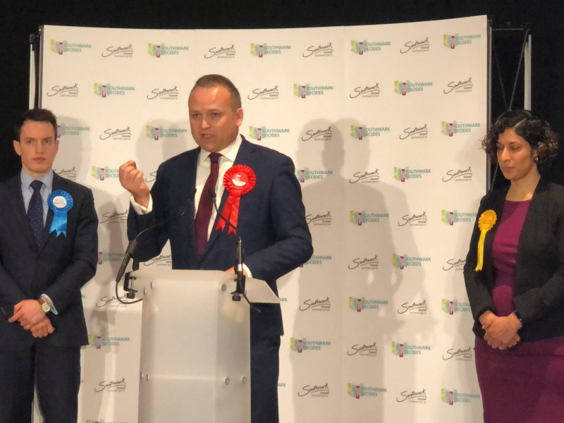 Neil Coyle wins third term as Bermondsey & Old Southwark MP