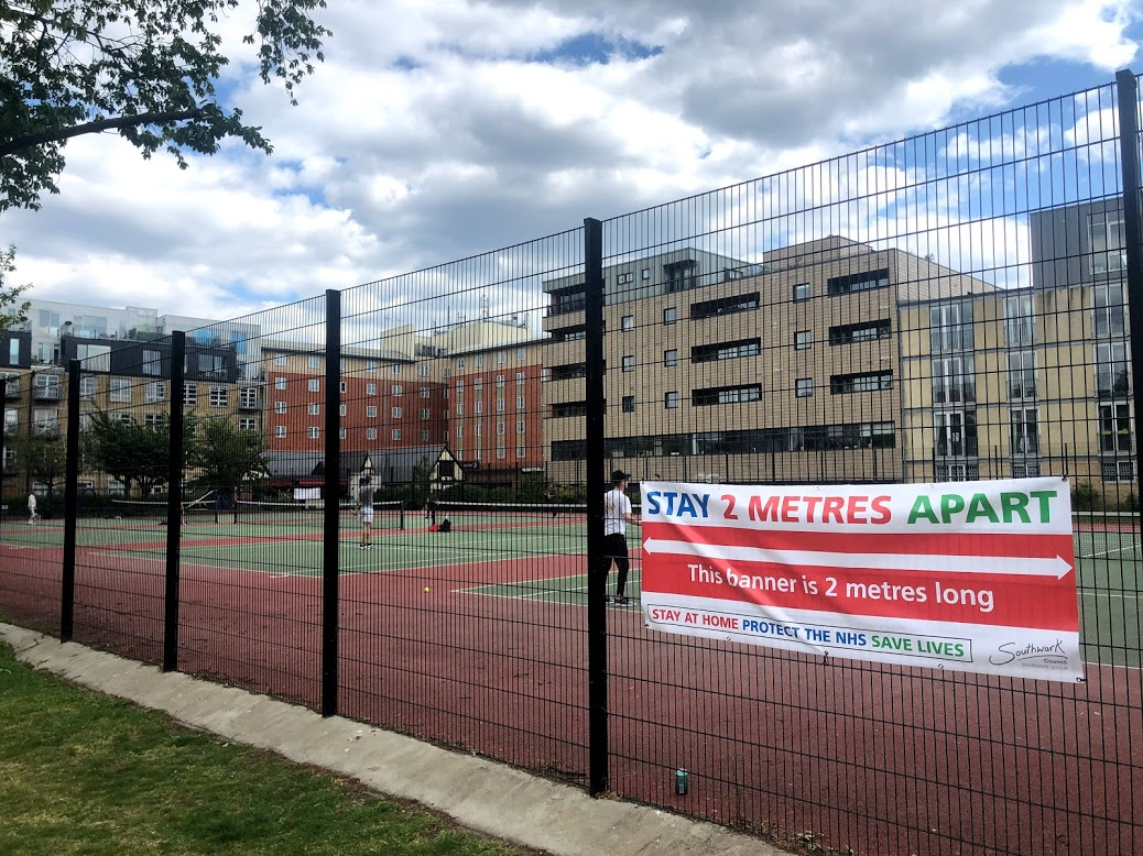 Southwark reopens Tanner Street Park tennis courts