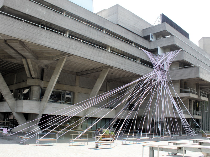 National Theatre covered in tape to highlight plight of sector