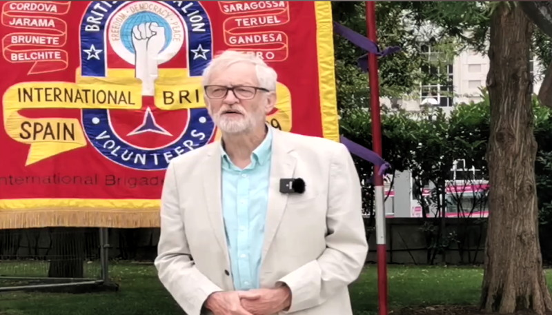 Jeremy Corbyn on South Bank for Spanish Civil War commemoration