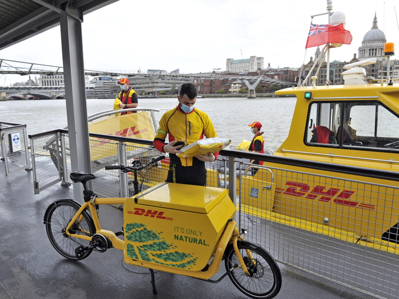DHL launches daily parcel delivery service by boat to Bankside