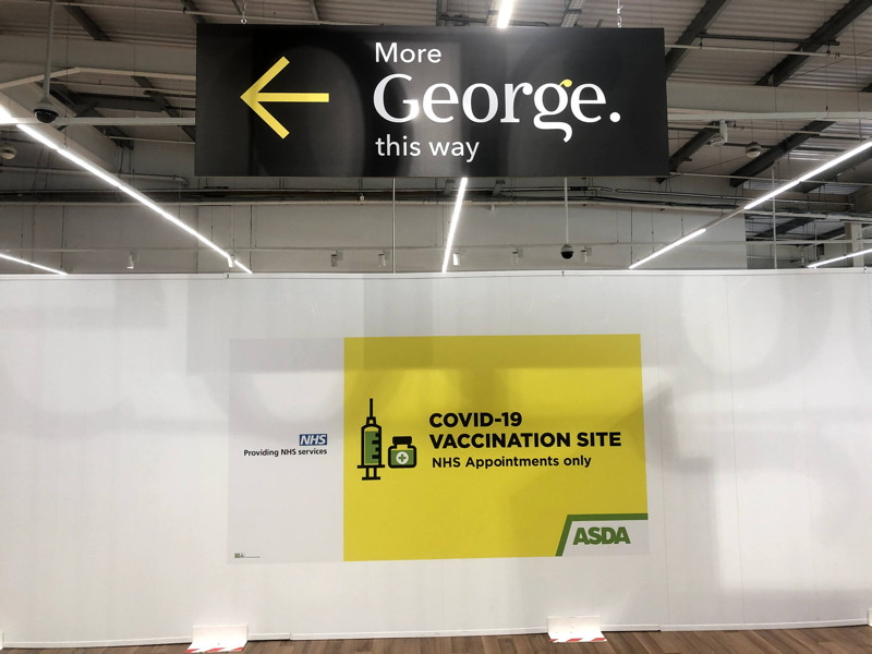 Asda sets up COVID-19 vaccination centre in Old Kent Road store