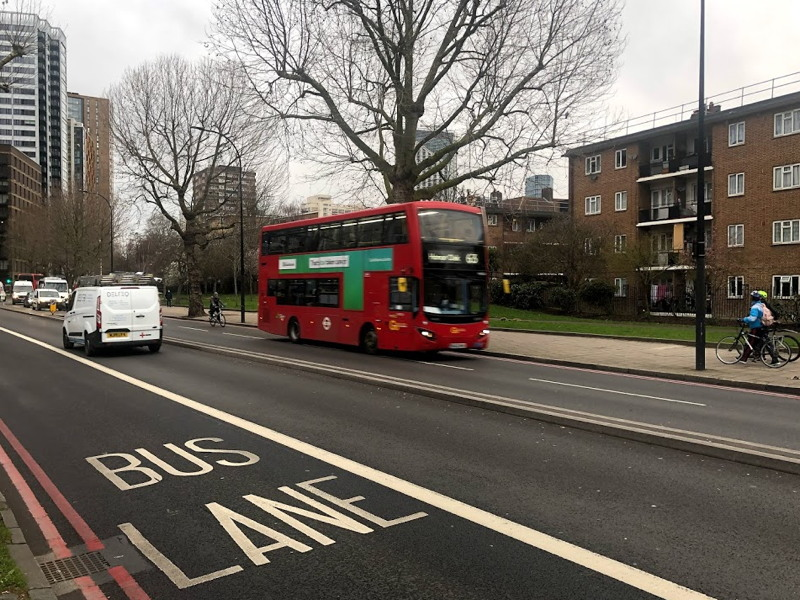 TfL introduces eastbound bus lane in New Kent Road