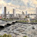 Savoy unveils panoramic painting of South Bank and River Thames