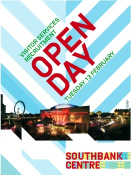 Southbank Centre Recruitment Open Day at Queen Elizabeth Hall
