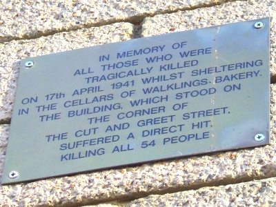 Rededication of War Memorial Plaque at Young Vic