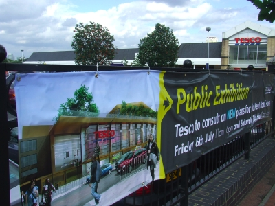 Plans for redevelopment of Tesco store at