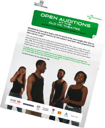 Open Auditions at The Old Vic