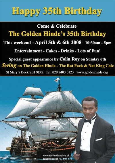 The Golden Hinde's 35th birthday at