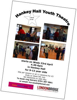 Youth Theatre at Hankey Hall
