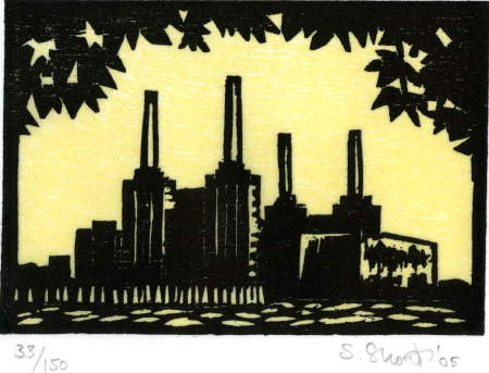 Battersea from the north bank by Susan Short