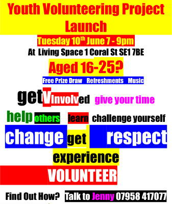 V volunteering project launch at Living Space