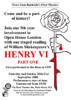 Henry VI at The Rose Playhouse