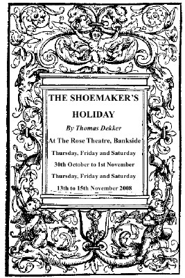 The Shoemaker's Holiday at The Rose Playhouse