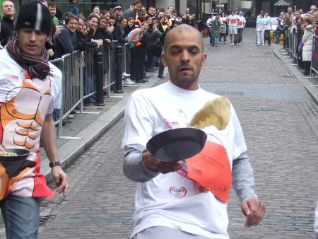 Pancake Day Race at