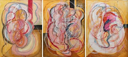 Homage to Francis Bacon: Triptych I
