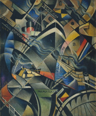 Christopher Richard Wynne Nevinson The Arrival 191