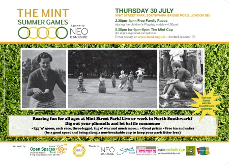 Mint Summer Games at Mint Street Park