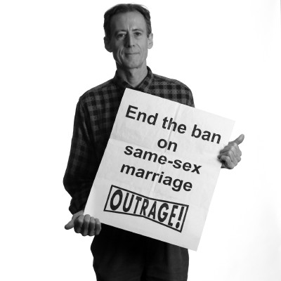 Peter Tatchell pictured by Rehan Jamil